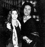 Vernon with movie star Stefania Casini.
