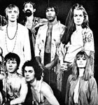 Vernon (3rd from left, standing) with cast of Hair.